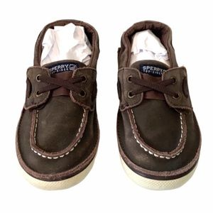 Sperry Topsider's, brown, 11.5. Leather up…